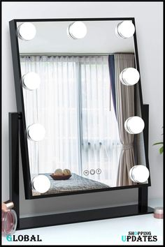 Makeup Mirror With Lights, Hollywood Mirror With Lights, Beauty Uk, Furniture Decor, Antique Jewelry, Oversized Mirror, Vanity, Indian