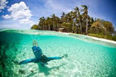 35 places to swim in the world's clearest water. I had a bunch of these individual pics pinned without knowing where they were. Now I do.