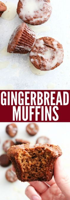 These delicious gluten free and paleo Gingerbread Muffins will be your new favorite! They're such a yummy treat to have with your morning coffee! thetoastedpinenut.com #paleo #glutenfree #muffins #gingerbread #healthy