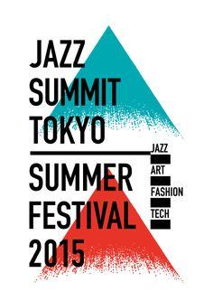 Japanese Poster: Jazz Summit Tokyo. Takara Mahaya. 2015 | layout color shape line