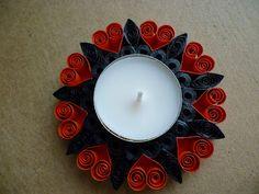 Papírvilág: quilling gyertyatartó / quilled candle holder