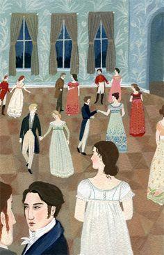 One of a series of illustrations by Becca Stadtlander beccastadtlander.com Basically Pride & Prejudice!