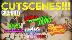IW ZOMBIES | ALL CUTSCENES! (SPACELAND, RAVE, SHAOLIN & ATTACK OF THE RA...