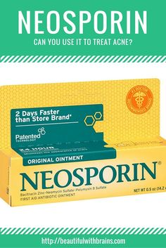 Neosporin is a popular antibiotic cream many people have started using to treat acne. That's a big mistake. Neosporin can't kill the bacteria that causes acne, but contains comedogenic ingredients that can make the condition worse. Click through to find out why you shouldn't use Neosporin to treat acne. via @giorgiabwb