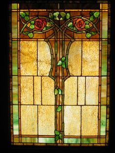 Stained glass window - Kinney Heights 1904 Craftsman - photo: Adam Janeiro