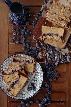 Bizcocho de Naranja con Arándanos y Streusel - Cookcakes de Ainhoa