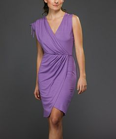 Take a look at this Lilac Surplice Dress by Biacci on #zulily today!