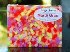 Mardi Gras Handcrafted Glycerin Soap Magic Senses