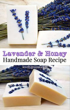 Honey & Lavender Soap recipe + instructions Soap Diy When to do Bored - Handmade Soap Recipes, Soap Making Recipes, Handmade Soaps, Beauty Hacks For Teens, Honey Soap, Soap Making Supplies, Lavender Soap, Lavender Honey, Lavender Plants