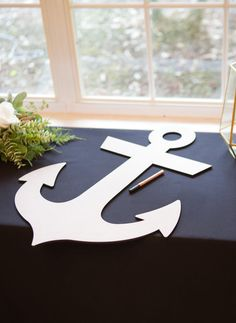 This wedding guestbook anchor can be used as a guestbook to gather the signatures from your wedding guests. Hang it on the wall or display it on a shelf after your wedding day for a lovely decoration that is sure to be loved forever in your home! Available in variety of colors including shimmery metallics and sparkling glitter, this is even great for other occasions or just as a decoration on its own. This monogram letter is light in weight and can easily be hung on the wall with double…
