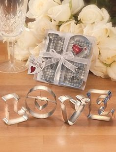 L-O-V-E Cookie Cutter Favors