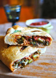 Homemade Calzones with Chicken and Asparagus