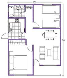 Projeto 3 50m projetos de casas pinterest chang 39 e 3 for Plano b mobilia