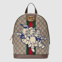 bae49c9101b Gucci Ophidia GG backpack with Three Little Pigs