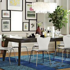 west elm angled leg expandable table 699