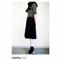 2015春夏☆膝丈フレアスカートは靴の合わせ方でこんなに変わる|マシマロ
