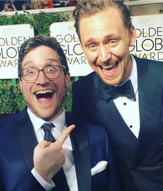 "Tom Hiddleston and Josh Horowitz!!! ""Best friends Josh + Tom Hiddleston  