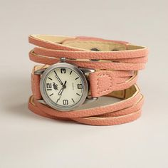 One of my favorite discoveries at WorldMarket.com: Blush Multi-Strand Watch