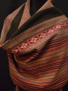 Vintage Collectible Indonesian Handwoven Textile Shawl