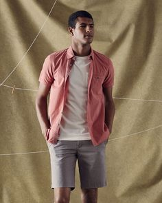 Ted Baker Laundered cotton shirt Mid Pink