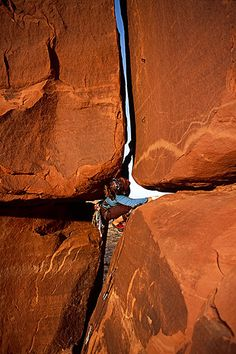 Katie Brown #climbing the Window Route 5.10+ on Echo Pinnacle, near Moab, Utah Image by Whit Richardson
