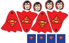 Superhero Printables - for lollipops - I'm definitely going to do this. :)