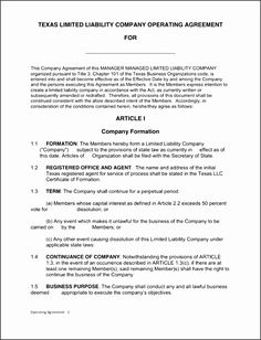 Texas Llc Operating Agreement Template Hjdnk Best Of Free Single - Limited liability company operating agreement template