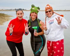 """OHFO Tri """"Oh, Hell Froze Over""""... choose your own distance tri.  It got REALLY cold... and the water temp was 40 degrees so the team """"EMT"""" called the swim portion.  (12/30/12)"""