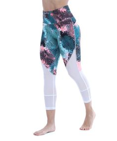 Loving this White Abstract Snake Print Ava Eclectic 7/8 Capri Leggings on #zulily! #zulilyfinds