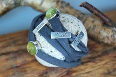 """Wickelarmbänder - Wickelarmband grau """"Hope - Faith - Luck"""" - ein Designerstück von DaiSign bei DaWanda"""