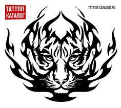 Эскиз тату трайбл тигр