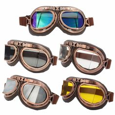 Channel your inner steampunk with these windproof aviator glasses. Comes in various sizes and colors :) Item Type: Glasses Gender: Unisex Size: S,M,L,XL,XXL Feature: Windproof, UV Protection for your