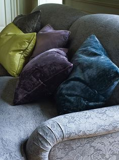 Marlowe Velvets collection at Colefax and Fowler