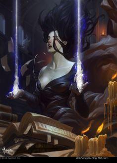 Artist: Bayard Wu aka bayardwu - Title: Demon'S Love01 - Card: Demon King's Captive Marie