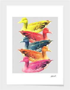 """DuckColor"" - Limited Edition Print by Eleaxart for Curioos"