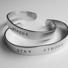 Hand Stamped Cuff Bracelet  Stay Strong by @justByou on Etsy #shopjustByou