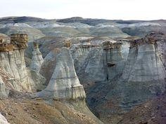 Burnham Badlands | ... formations around a ravine | New Mexico