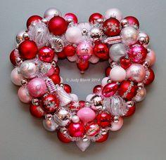 Valentine Wreath Heart Wreath Christmas Ornament by judyblank, $299.99