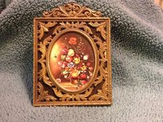 VINTAGE Brass-Toned Picture Frame, Ornate Filigree from ITALY