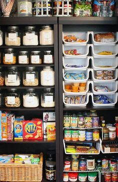 Organize with Bookshelves: Kitchen