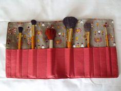 make up brush holder make up brush roll by FingerPrickingGood
