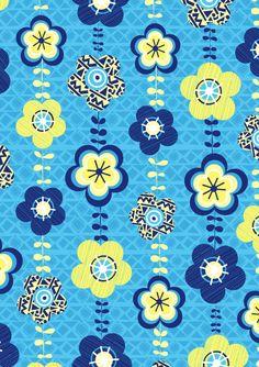 Genine Delahaye - Floral pattern - via http://geninedelahaye.blogspot.co.uk/