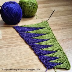 Knitting and so on: New scarf idea ...