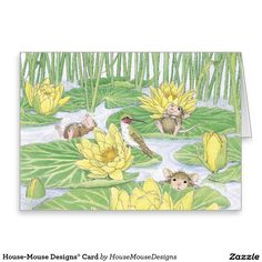 House-Mouse Designs® Card https://www.zazzle.com/z/3shjh   Feathered on house mouse design time, house cleaning services business cards, house mouse christmas,
