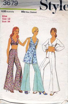 1970s Vintage Sewing Pattern Style 3679 by allthepreciousthings, $22.00