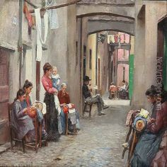 Le Coucher oil painting reproduction by Hermann Fenner-Behmer ... www.niceartgallery.com600 × 600Buscar por imagen Street Scene With Lacemakers In Via Dell Oro, Rapallo In Italy Hermann Fenner-Behmer  Ann James Massey Connoisseur - Buscar con Google