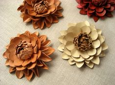 leather craft ideas | Craft Ideas / Shoes clip (leather craft)