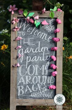 Welcome your guests with a cute chalk board