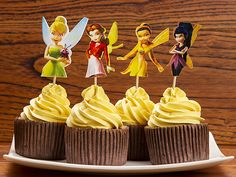 72pcs/lot Adorable vivid Flying Fairy Tinkerbell Cupcake Topper Picks,girl's birthday party decorations,kids evnent party favors