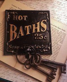 Jet Black Bathroom Hook - Cast Iron Sign - AlacartCreations